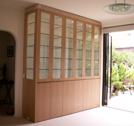 European Beech Display With Glass Shelving