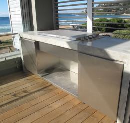 Concrete & Stainless Outdoor Kitchen