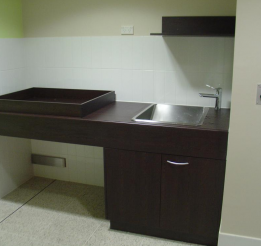 Laminated Vanity With Apron Bench Top