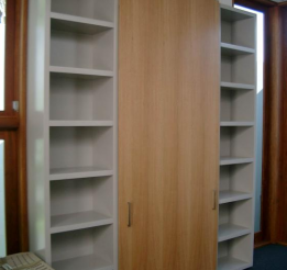 Polyurethane 33mm Open Cupboard With Veneer Sliding Door