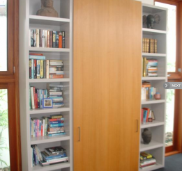Polyurethane 33mm Robe With Open Shelves And Veneer Sliding Door
