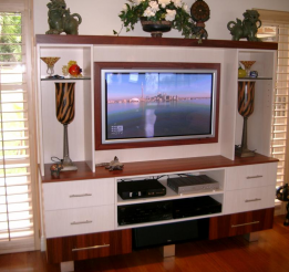 Polyurethane And Jarrah Veneer Tv Entertainment Unit