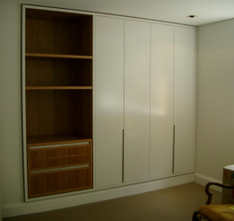 Polyurethane And Veneer Wardrobe With 33mm Surround And Finger Pull Handles