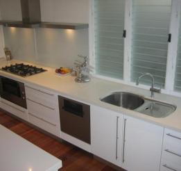Polyurethane Kitchen With Undermount Sink Detail