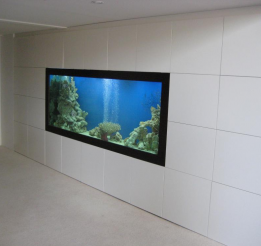 Polyurethane Storage Wardrobe with Custom Fish Tank