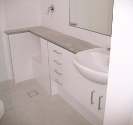 Polyurethane Vanity With 20mm Stone Bech Tops