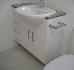 Polyurethane Vanity With Semi Recessed Basin