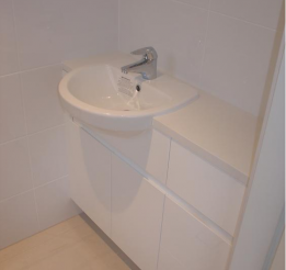 Semi Recessed Basin With Shadow Line Handle Detail