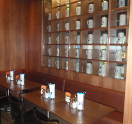 Solid Timber And Veneer Restaurant Display Cabinets