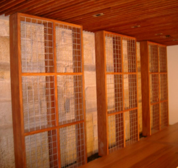Solid Timber And Wire Mesh Wine Racks