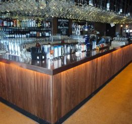 Solid Timber Bench Tops And Bar Back Panelling