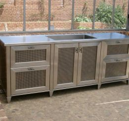 Stainless Steel Kitchen Bar Unit