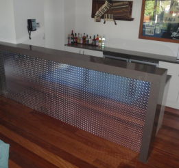 Stone Bar With Checkerplate Panel