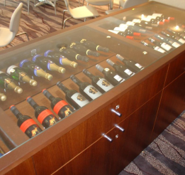 Timber Wine Display Cabinet