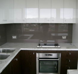 Wenge Veneer Kitchen With Statuario Marble Tops