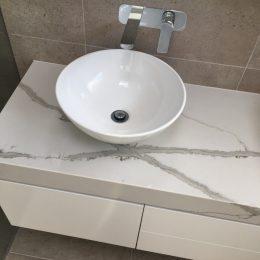 bathroom vanity looking down