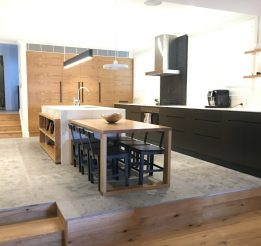 Timber, Polyurethane and Stone Kitchen